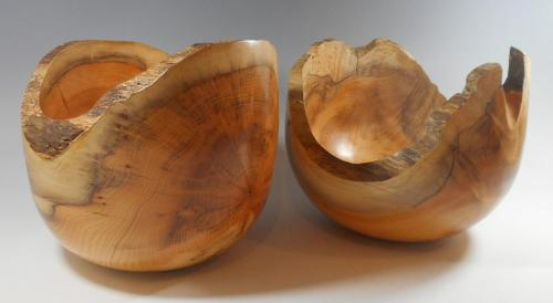 11 Pair of yew bowls with natural edges